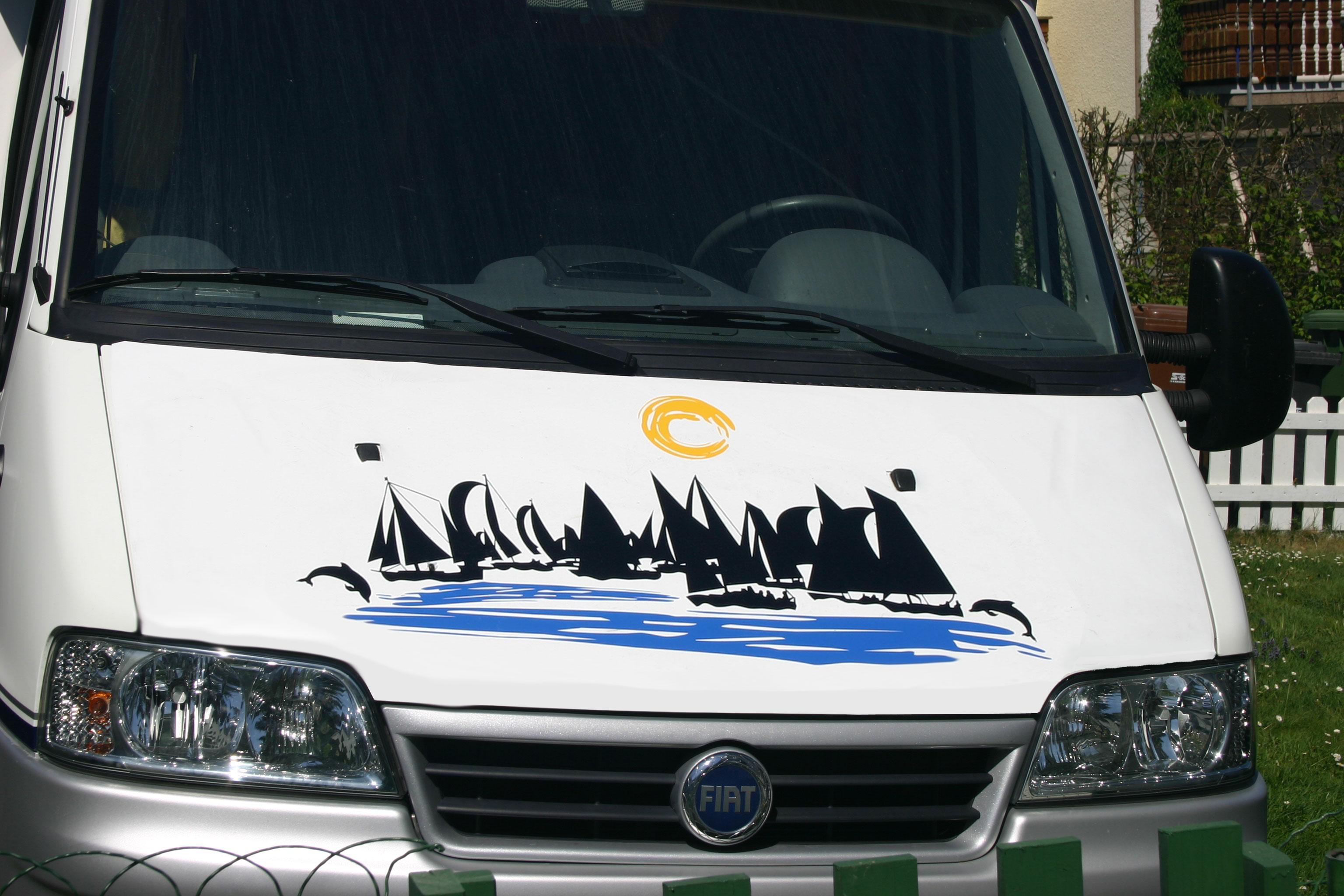 Boote,Delfine,Meer  Wohnmobil Wohnwagen Aufkleber Set