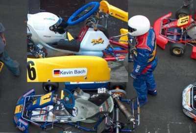Hier auf dem Kart von MB-Racing Team